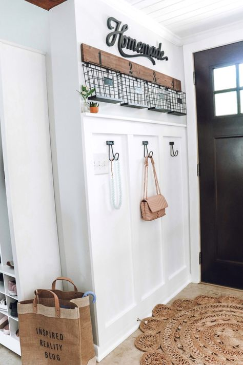 Updating House, Small Decor, House Inspiration, Board And Batten, Small Entryways, Home Remodeling, Small Entryway, House Interior, Batten