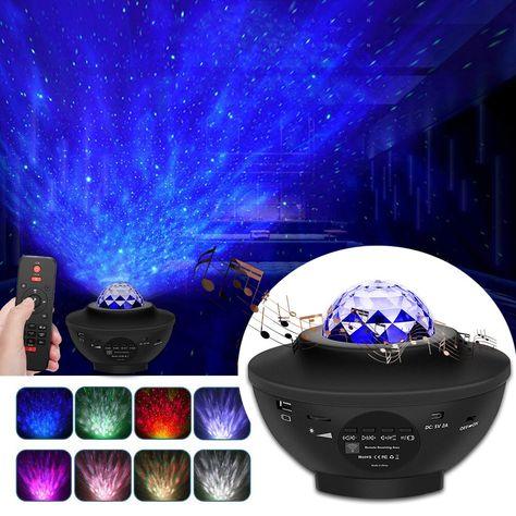 Galaxy Breeze- Projector night light with bluetooth music – Inspirelivingvibe Night Light Projector, Led Projector, Projector In Bedroom, Ceiling Projector, Hans Wegner, House Doctor, Starry Night Light, Stars At Night, Star Night