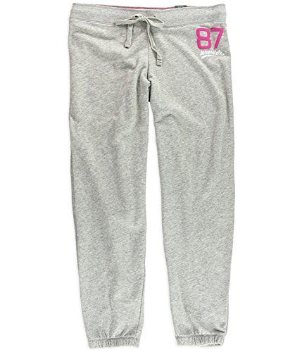 Aeropostale Womens Classic Cinch Slim Casual Sweatpants