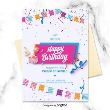 Bunting Childrens Cartoon Birthday Party Greeting Card Invitation Templ In 2020 Happy Birthday Invitation Card Bear Birthday Party Invitations Invitation Card Birthday