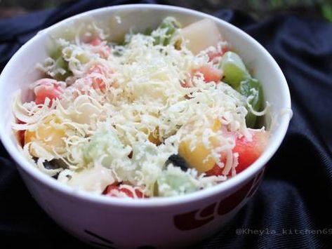 Resep Salad Buah Simple Oleh Kheyla S Kitchen Resep Resep Salad Makanan Dan Minuman Makanan Sehat