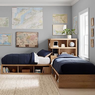 This Space Saving Bed Set Complete With Two Corner Twin Beds And