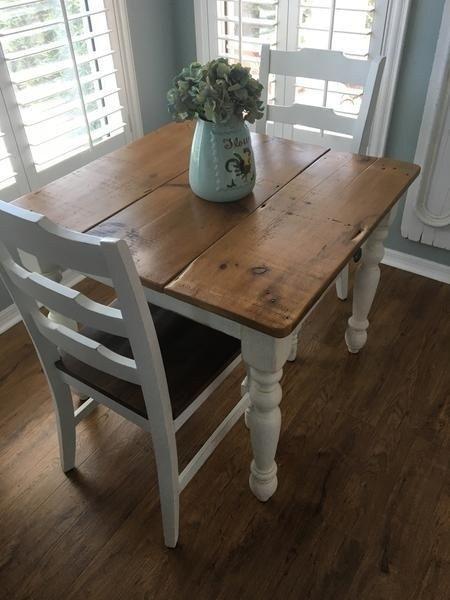 44 Beautiful Farmhouse Kitchen Table Design Ideas Rustic Kitchen Tables Square Kitchen Tables Small Farmhouse Table