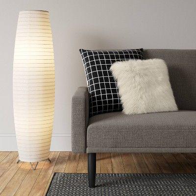 Paper Floor Lamp White Lamp Only Room Essentials Paper Floor