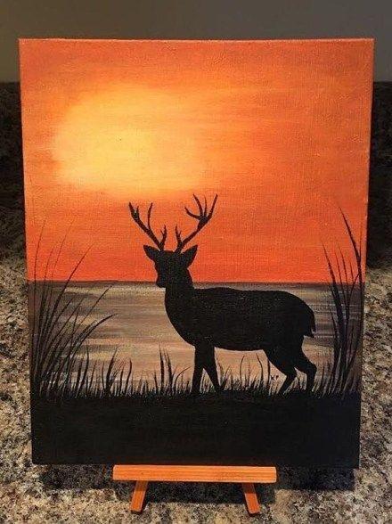 Lukisan Cat Air : lukisan, Acrylic, Painting, Ideas, Beginners, Lukisan, Kanvas,