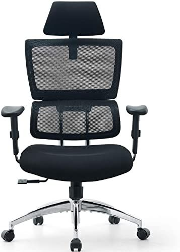 New Ticova Ergonomic Office Chair Adjustable Headrest Armrest