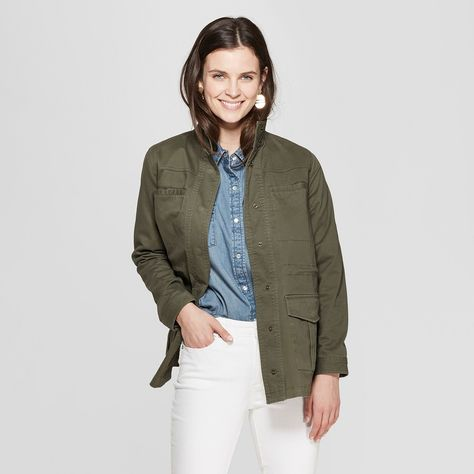 09d2bd148a9e4 Women's Utility Jacket - Universal Thread Olive XL, Green