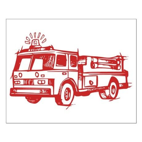 Red Fire Truck Posters By Awesomedesigns Fire Trucks Throw