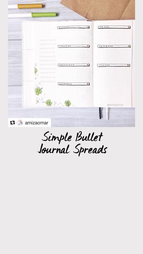 Simple Bullet Journal Spreads