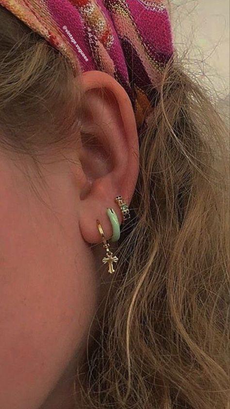 Ear Jewelry, Cute Jewelry, Jewelry Accessories, Hippie Jewelry, Trendy Jewelry, Jewelry Trends, Diamond Jewelry, Fashion Jewelry, Women Jewelry