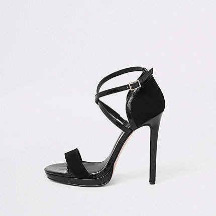 river island black platform sandals