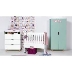 Baby-Kleiderschrank Color, anthrazit Manis-hManis-h