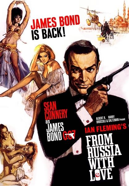 2. James Bond: From Russia With Love (1963)    007 played by: Sean Connery  Bond Girl: Daniela Bianchi (Tatiana Romanova)  Directed by: Terrence Young  Filming budget: $2,500,000  Time between this and previous release: 1 year