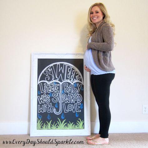 Week 31 Pregnancy Chalkboard from Michelle @ www.everydayshouldsparkle.com
