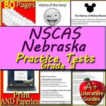 NSCAS ELA Practice Tests English Language Arts for Nebraska