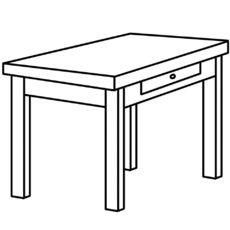 Tisch ausmalbild  tisch.jpg | Ausmalbilder Möbel | Pinterest | Ausmalen, Klasse und ...