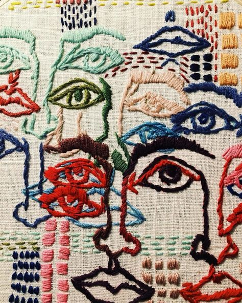 Textiles The Eames Office celebrates art of the century in 10 Mind-Blowing Textile Artists You Embroidery Art, Embroidery Designs, Tessa Perlow, Textile Artists, Fabric Art, Art Inspo, Needlework, Creations, Artsy