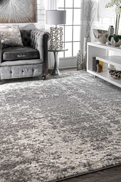 Bloom Gray Area Rug With Images Rugs In Living Room