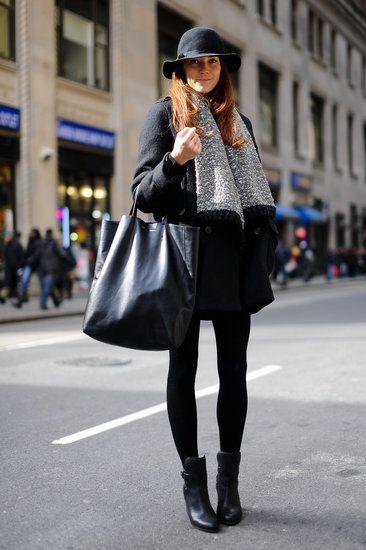 Black, but hardly basic #NYFW #StreetStyle