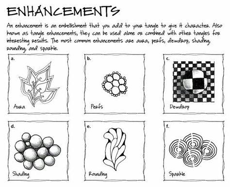Zentangle enhancements