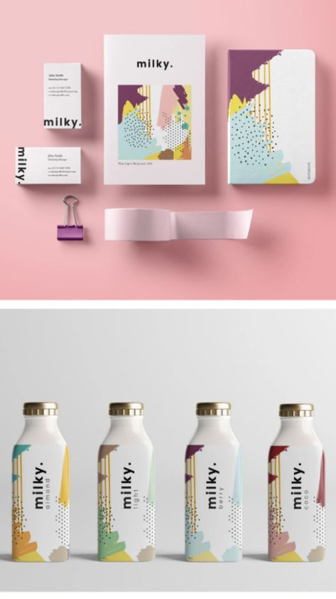 Milky dairy brand and packaging design by Bensu Atila