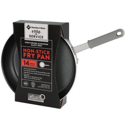 Member S Mark 14 Inch Non Stick Fry Pan In 2020 Members Mark Frying Pan Clear Jars