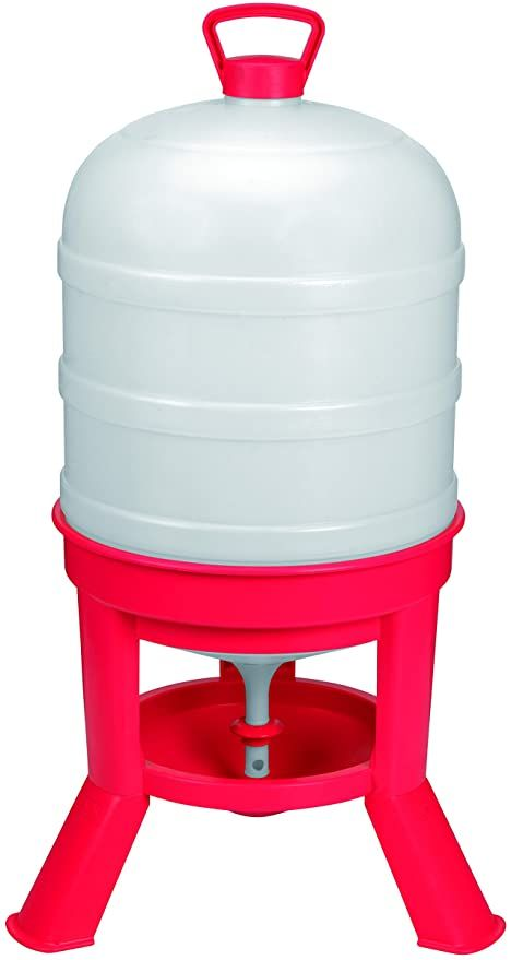 Amazon Com Little Giant Plastic Dome Waterer 10 Gal Heavy Duty Plastic Gravity Fed Poultry Waterer Container Tan In 2020 Little Giants Nesting Boxes Poultry Feeders