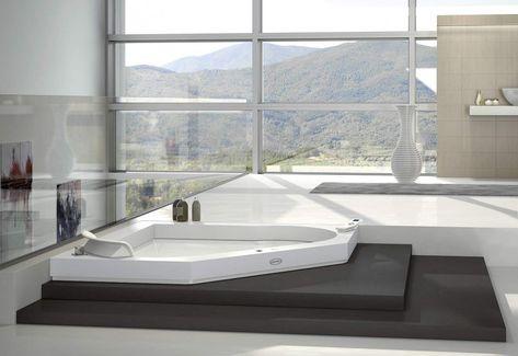 Baignoire balneo d\'angle avec jacuzzi - Un splendide baignoire ...