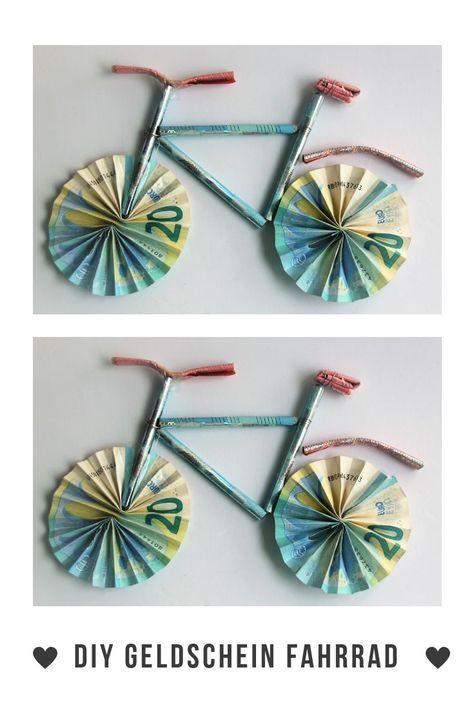 Diy Geldgeschenk Fahrrad Geschenke Geldgeschenk Fahrrad