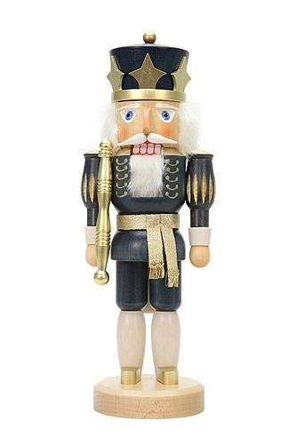German Christmas Nutcracker King Blue  375cm  15 inch  Christian Ulbricht ** This is an Amazon Affiliate link. To view further for this item, visit the image link.
