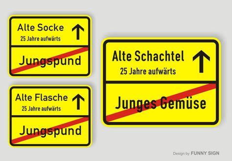 Details Zu Ortsschild Schild Zum 25 Geburtstag Schachtel Flasche