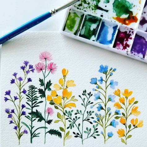 Flower art – watercolor inspiration art # … – World of Flowers