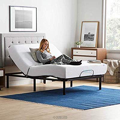 Amazon Com Lucid L100 Adjustable Bed Base Steel Frame 5 Minute