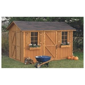 8 X 12 Huron Double Door Storage Shed Fence And Pinterest Hardware