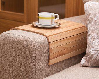 Sofa Tray Table White Tray Table Wooden Coffee Table Lap Desk Small Spaces Wooden Tray Sofa Arm Table Gift For Mum Moving Derevyannye Kofejnye Stoliki Stol Podnos Nebolshoj Pismennyj Stol