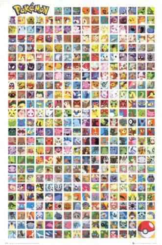 POKEMON POSTER Beings Grid RARE HOT NEW 24X36