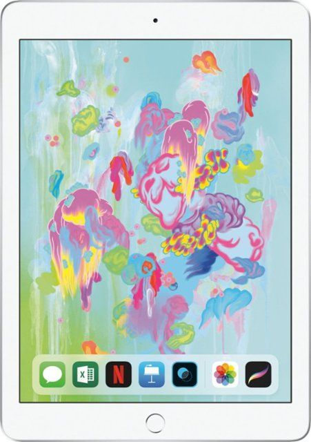 Apple Ipad 6th Gen With Wi Fi 32gb Silver Mr7g2ll A Apple Ipad