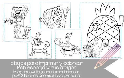 Muchos Dibujos Para Coleccionar De Bob Esponja Y Sus Amigos Cards Templates Printables