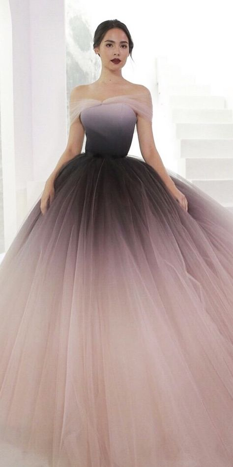 27 Colored Wedding Dresses To Make You A Stylish Bride ❤ colored wedding dress. 27 Colored Wedding Dresses To Make You A Stylish Bride ❤ colored wedding dresses ball gown off the shoulder ombre dark purple poem ❤ Full gallery: weddingdressesgui. Antique Wedding Dresses, Colored Wedding Dresses, Ombre Wedding Dress, Gown Wedding, Different Color Wedding Dresses, Wedding Rings, October Wedding Dresses, Ombre Gown, White Occasion Dresses