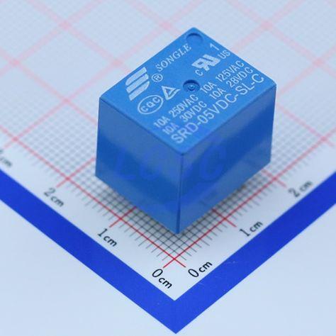 Ningbo Songle Relay Srd 05vdc Sl C Blue Electronics Components