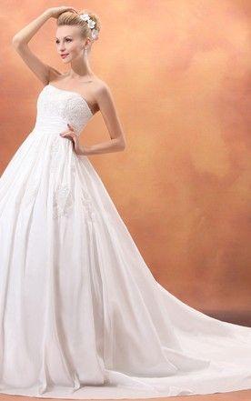 Dramatic Strapless A Line Taffeta Princess Ball Gown With Laces Princess Ball Gowns Wedding Dress Catalog Free Wedding Dress