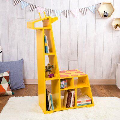"Teamson Kids Zoo Kingdom Giraffe 31.13"" Bookcase"