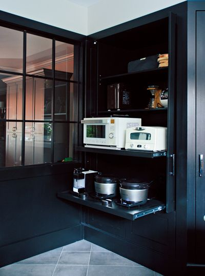 優木まおみさん宅の キッチン ベッドルーム バスルーム こだわり収納テクを大公開 キッチン キッチン家電 収納 インテリア 収納