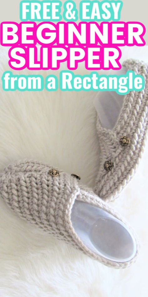 Easy Crochet Slippers, Crochet Mittens Free Pattern, Easy Crochet Patterns, Crochet Stitches, Knitting Patterns, Knit Slippers Pattern, Free Crochet Slipper Patterns, Sewing Slippers, Tutorial Crochet