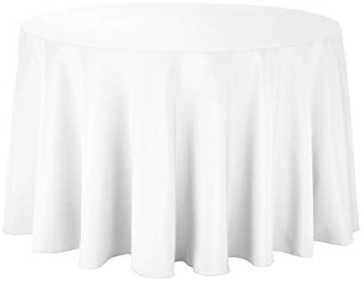 Amazon Com Gee Di Moda Tablecloth 108 Inch Round Tablecloths For Circular Table Cover In White Washable Polyes With Images Circular Table Table Covers Round Tablecloth