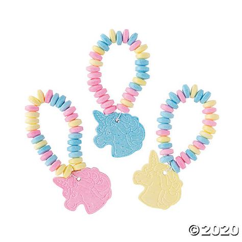 Throwing a unicorn birthday party? Then these Unicorn Candy Bracelets are must-have additions to party favor bags. They also make great rewards and prizes for any time of year! Diy Unicorn Birthday Party, Unicorn Party Bags, Rainbow Unicorn Party, Unicorn Party Supplies, Rainbow Birthday Party, Unicorn Birthday Parties, Birthday Party Favors, Birthday Party Decorations, 5th Birthday