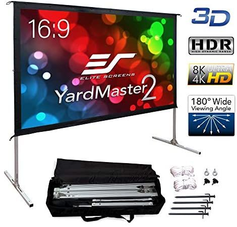 Elite Screens Yard Master 2 100 Inch Outdoor Projector Screen With Stand 16 9 8k 4k Ultra Hd 3d Fast Folding Portable Movie Theater Cinema 100 Indoor Foldabl In 2020 Outdoor Projector
