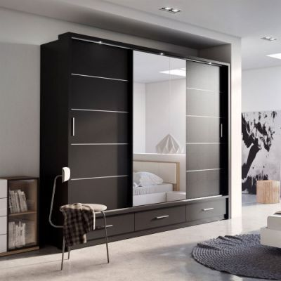 Modern Wardrobe Design With Mirror Wardrobe Design Bedroom