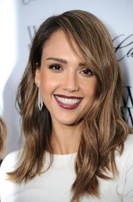 59 Ideas Hair Brown Lob Jessica Alba For 2019 Hair In 2019