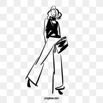 Hand Drawn Abstract Fashion Woman Fashion Model Fashion Black Hand Painted Png Transparent Clipart Image And Psd File For Free Download Abstract Fashion Fashion Models Fashion Painting